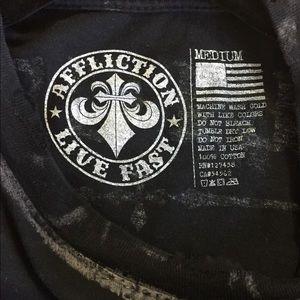 Affliction Shirts - AFFLICTION LIVE FAST MENS T-SHIRT